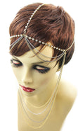 Load image into Gallery viewer, Crystal Drape HeadChains