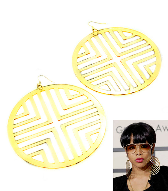 'RIRI'  FISH  HOOK STATEMENT EARRING