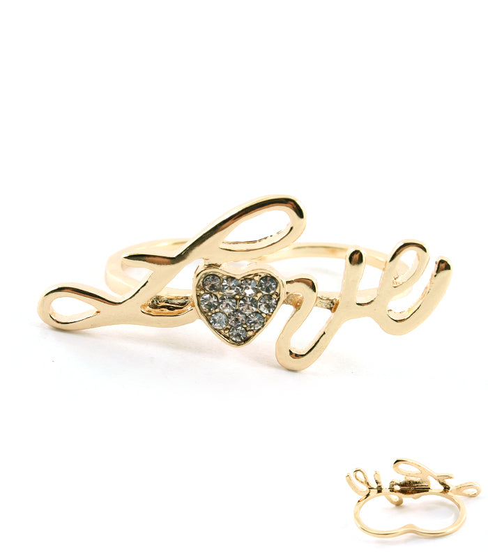 LOVE KNUCKLE  RING