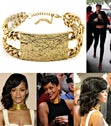 "Load image into Gallery viewer, ""RIHANNA"" CHOKER PATTERN ID NECKLACE"