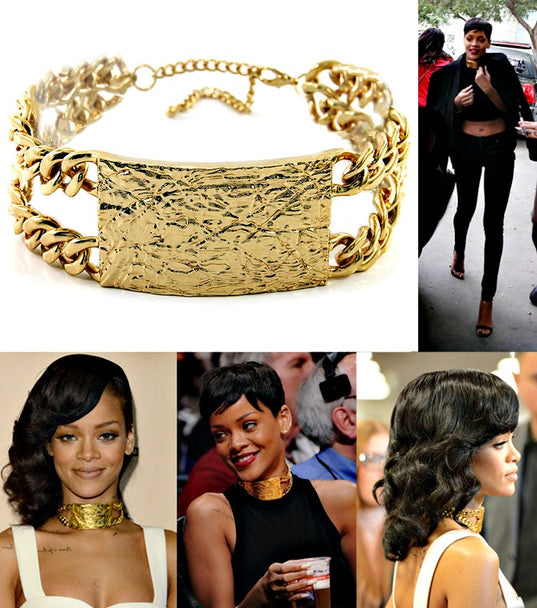"""RIHANNA"" CHOKER PATTERN ID NECKLACE"