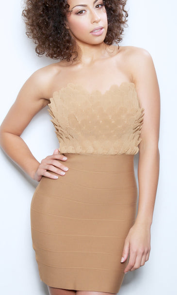 'HAILEY'  2 - FER BODYCON BANDAGE DRESS