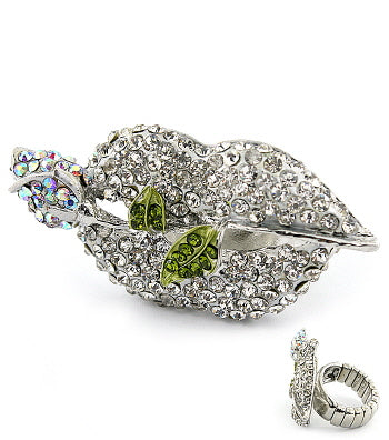 Stretch Crystal Jennifer Williams Kiss Ring