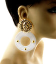 Load image into Gallery viewer, 'J'ADORE'  LION ACRYLIC EARRINGS - Jewellery