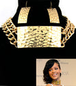 Load image into Gallery viewer, 'RIHANNA' ID CHOKER NECKLACE AND EARRING SET