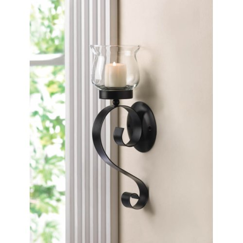 Lasting Impression Fluted Glass Cup Wall Sconce