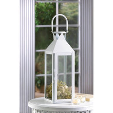 Load image into Gallery viewer, White Manhatten Candle Lantern