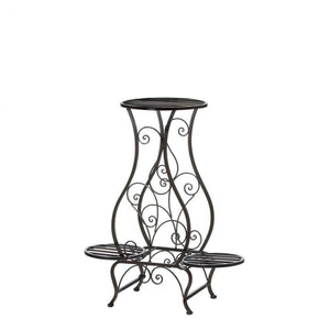 Hourglass Iron Plant Stand For Three Plants