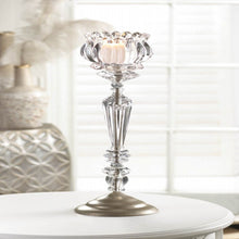 Load image into Gallery viewer, Crystal Flower Candle Stand