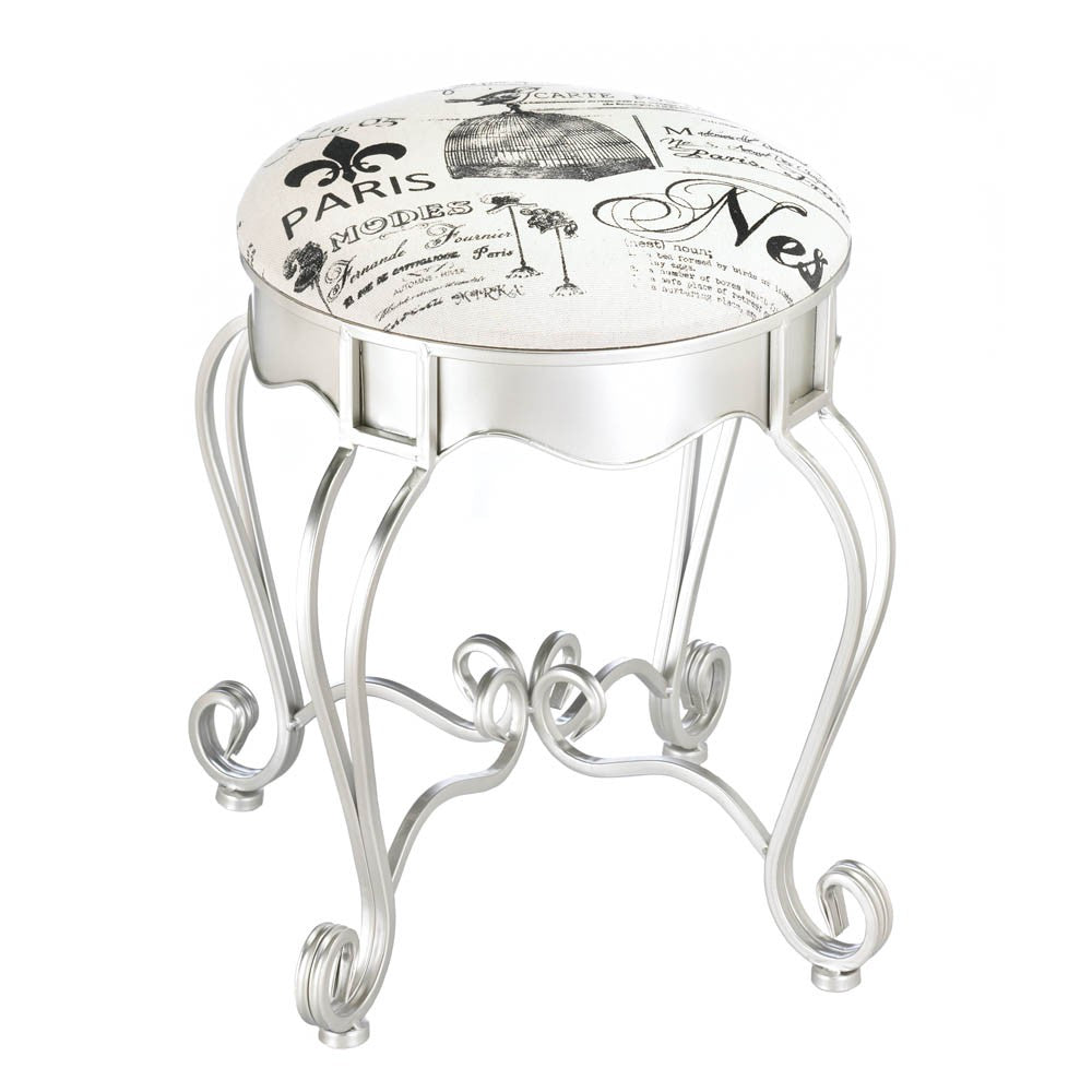 Pretty In Paris Metal Stool