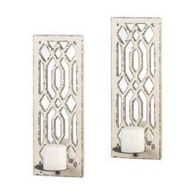 Load image into Gallery viewer, Deco Mirror Wall Sconce Set
