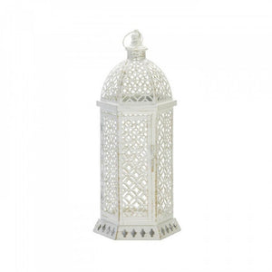 Large Cutwork Hexagon Lantern