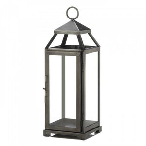 Medium Brushed Pewter Lantern