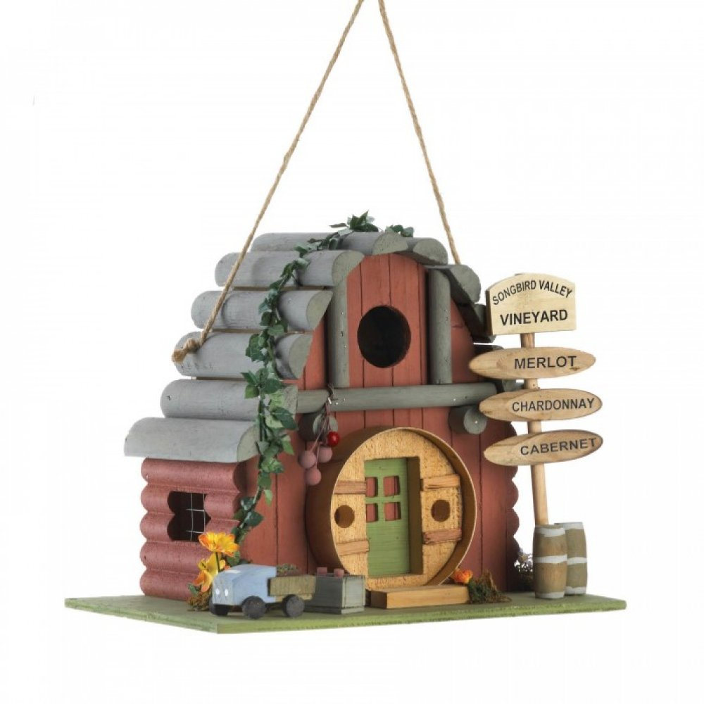 Vintage Winery Birdhouse