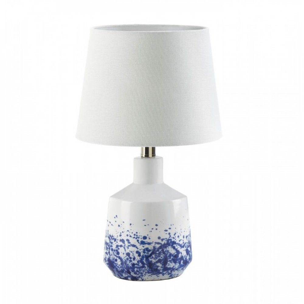 White And Blue Splash Table Lamp