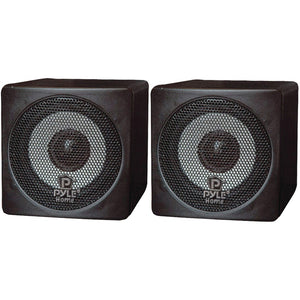 "Pyle Home 3"" 100-Watt Mini-Cube Bookshelf Speakers (Black)"