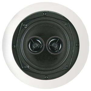 "Bic America 5.25"" Muro Dual Voice-Coil Stereo Ceiling Speaker"