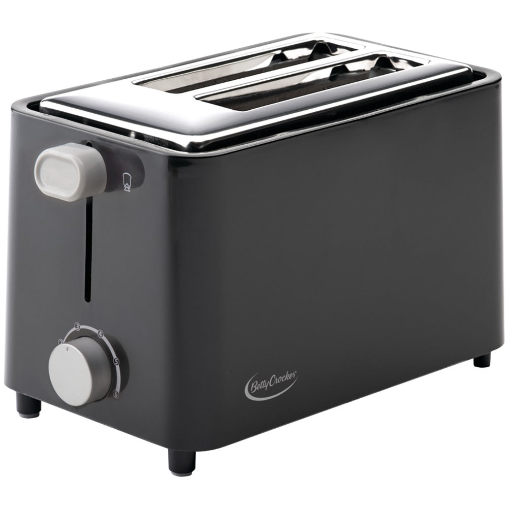 Betty Crocker 2-slice Toaster (black)