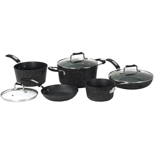 The Rock By Starfrit The Rock By Starfrit 8-piece Cookware Set With Bakelite Handles