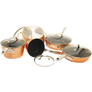 The Rock By Starfrit The Rock By Starfrit 10-piece Copper Cookware Set