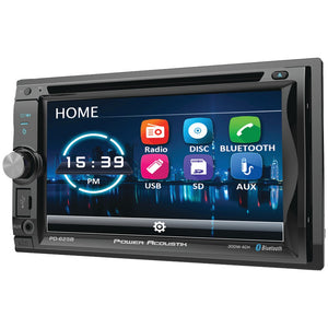 "Power Acoustik 6.2"" Incite Double-Din In-Dash Detachable LCD Touchscreen DVD Receiver With Bluetooth"