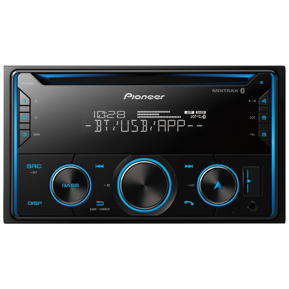 Pioneer Double-Din In-Dash Cd Receiver With Bluetooth