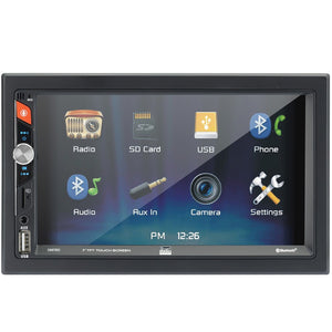 Dual 7-Inch Double-Din In-Dash Mechless Receiver With Bluetooth