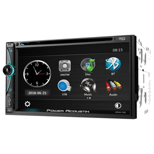 Power Acoustik Cpaa-70d 7-inch Double-din In-dash Dvd Receiver With Bluetooth Apple Carplay And Android Auto