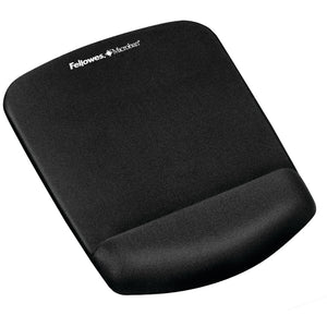 Fellowes Plushtouch Mouse Pad Wrist Rest With Foamfusion (black)