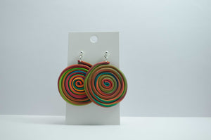 Polymer Clay Large Rainbow Swirl