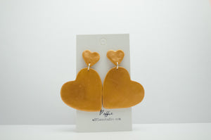 Polymer Clay Double Hanging Hearts