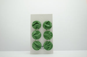 Polymer Clay 3 Tier Draped Circle Dangles Draped Collections