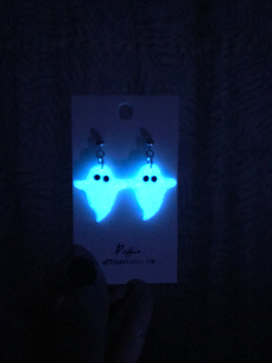 Polymer Clay Ghosts - Glow in the Dark (Cut)