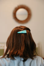 Load image into Gallery viewer, Hair Clip - Blue Glitter