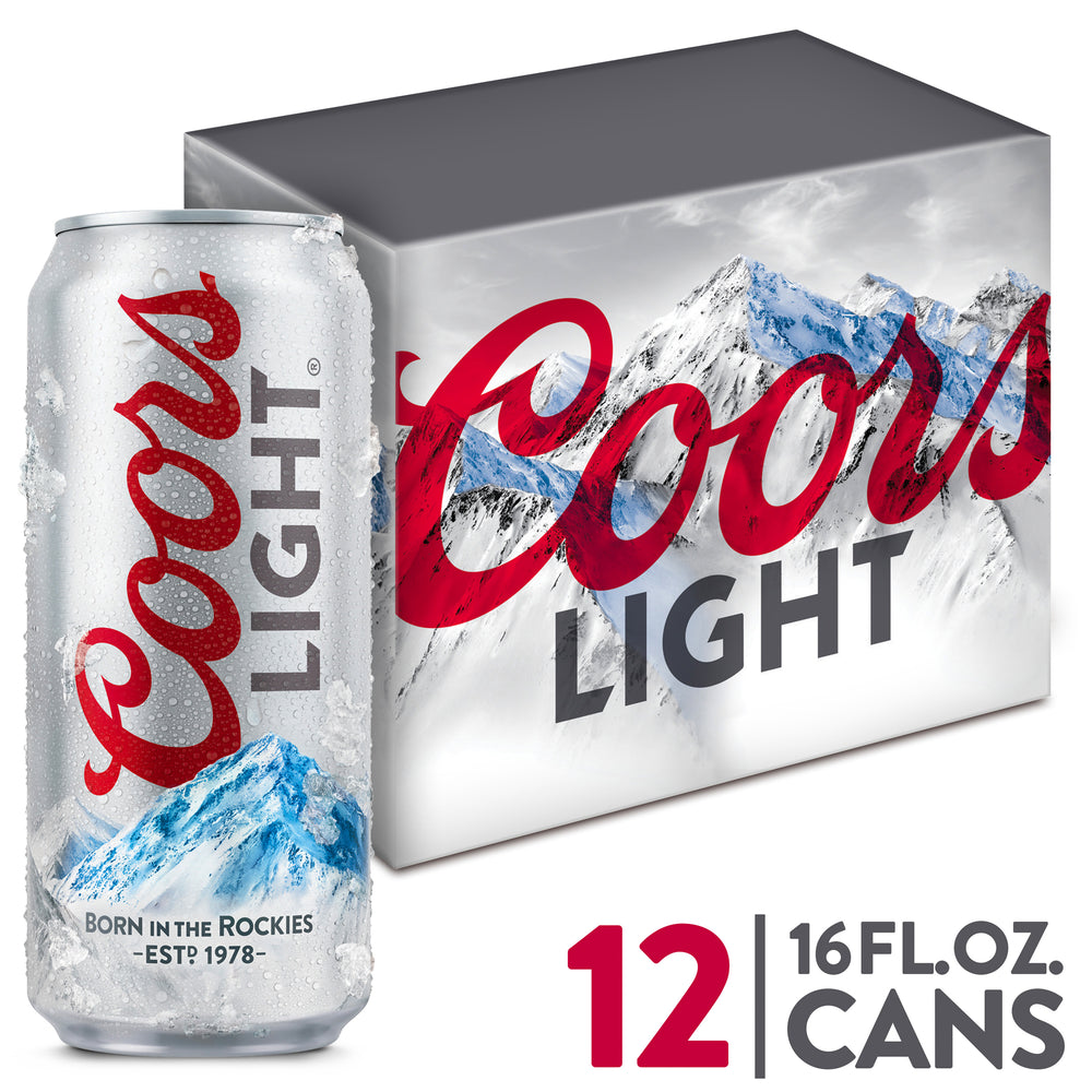 COORS LIGHT - 12 PACK - 16 oz