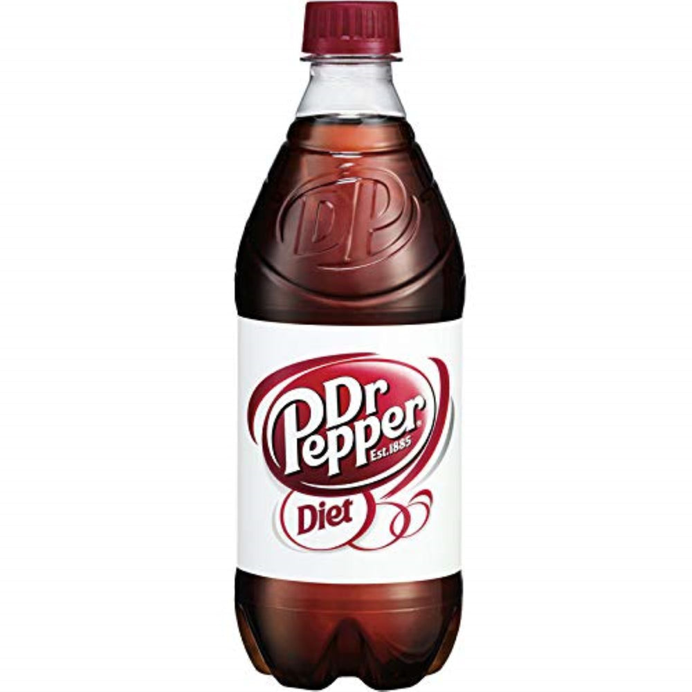 DIET DR PEPPER - 12 PACK - 20 oz BOTTLES