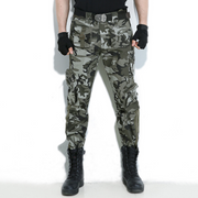 Man Multi-Pocket Windproof Abrasion Resistant Outdoor Military Casual Trousers