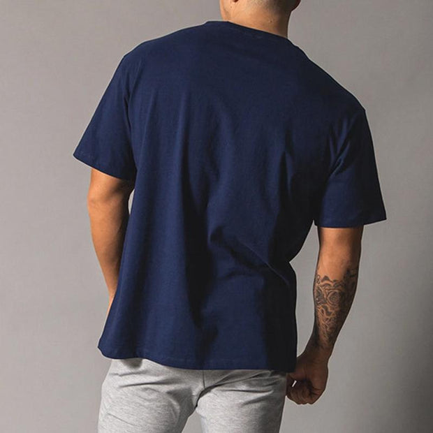 Men's Casual Sports Short-sleeved Loose Pullover