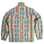Men's Ethnic Style Printing Woolen Jacket Coat