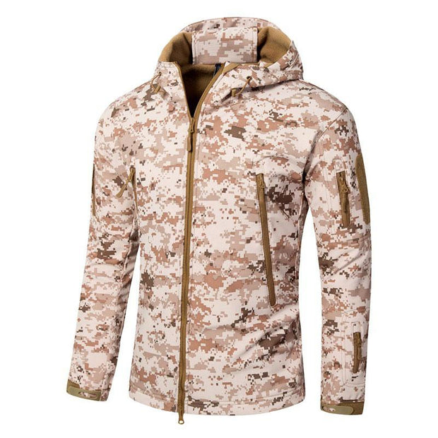 Men's Outdoor Fitness Camo Hooded Zipper Coat