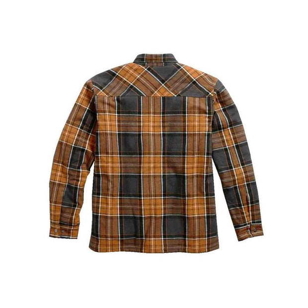 Man Multicolor Pocket Lapel Plaid Coat
