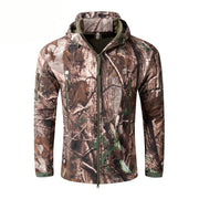 Man Outdoor Camouflage Zipper Coat