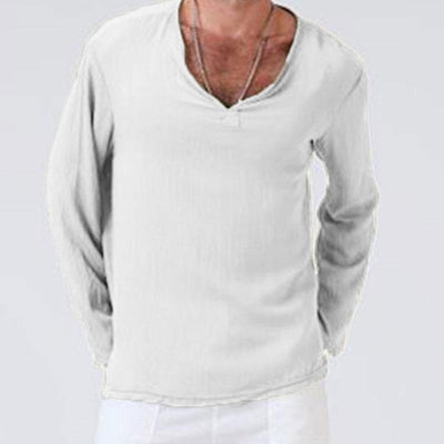 Men's Simple Style Solid Color Shirt Pullover