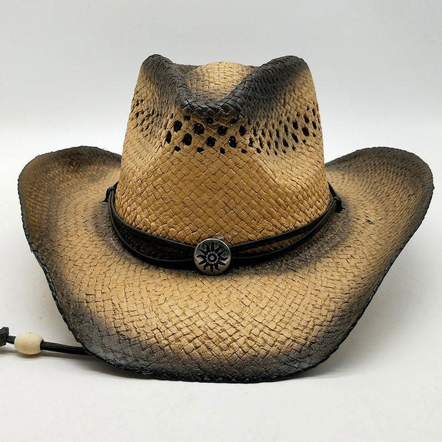 Man Outdoor The Cowboy Straw Hat Sun Hat