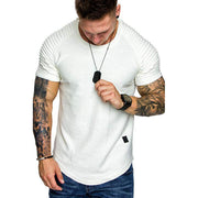 Men Casual Round Neck Sport Tees Pullover