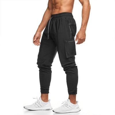 Men Casual Loose Elastic Soild Color Sport Pants