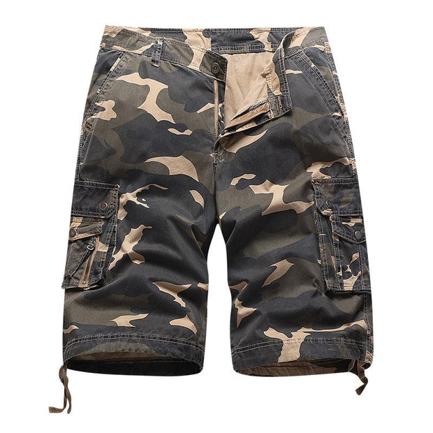 Men's Casual Sport Multi-pocket Overall Short Pants