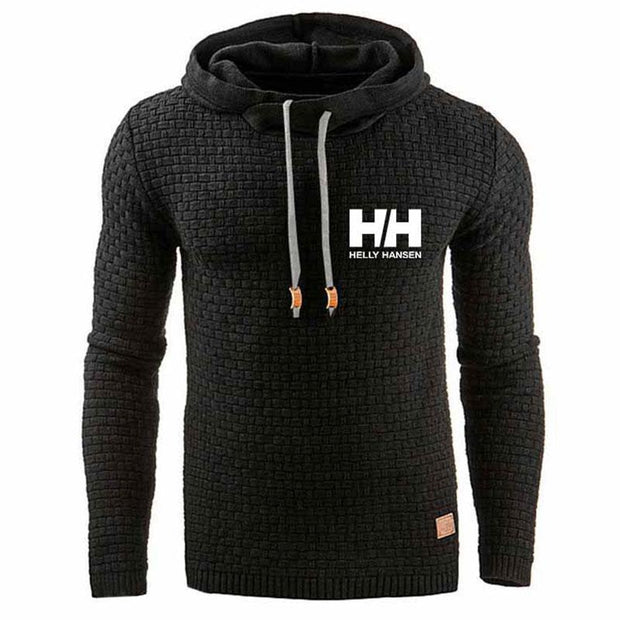 Men Casual Print Sport Style Hooded Pullover