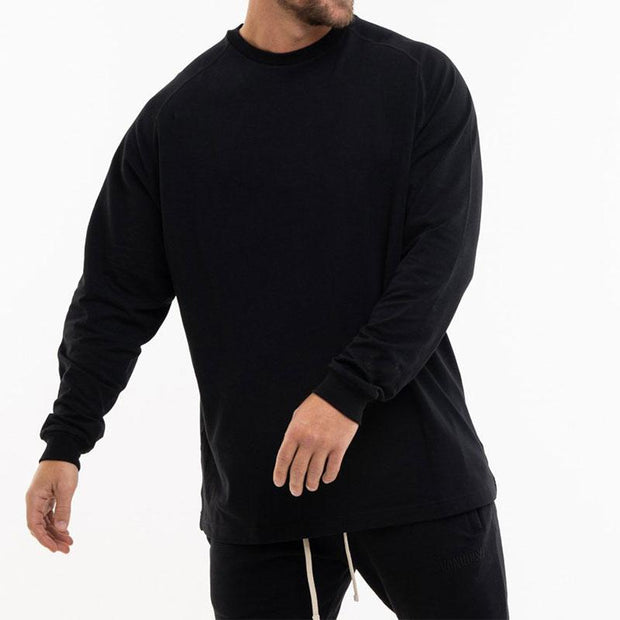 Men Casual Solid Color Street Style Pullover