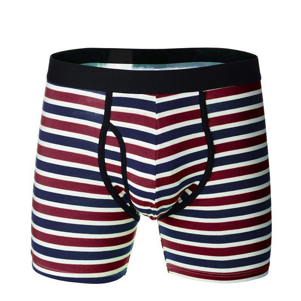 Five Pairs Of Man Cotton Knitted Stripe Underpants